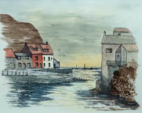 Staithes, north of Whitby, on the Yorkshire coast